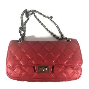 Handbags - Quilted leather red flap bag